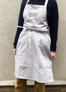 light grey apron