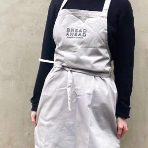 bread ahead light grey apron