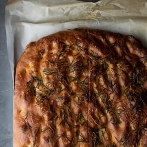 An image of a Bread Ahead focaccia that has been freshly baked.